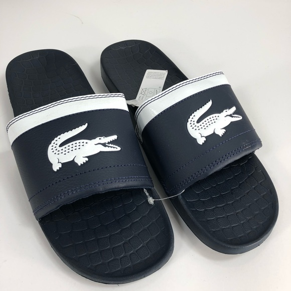 d663233eccfe07 Lacoste slides 8 Blue white New . Price is Firm.